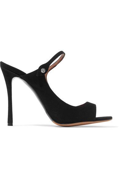Tabitha Simmons   Isla embellished nubuck sandals   NET-A-PORTER.COM