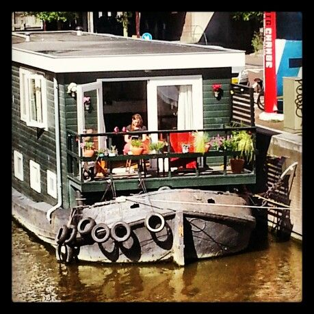 """Houseboats are so """"Dutch"""", the canals are full of year round homes on the water ways :)"""