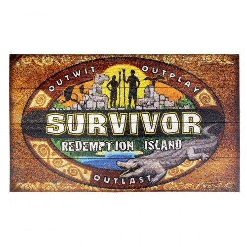 Survivor Redemption Island Wood Sign. Ok, so it's not DIY here... but I could totally make this!