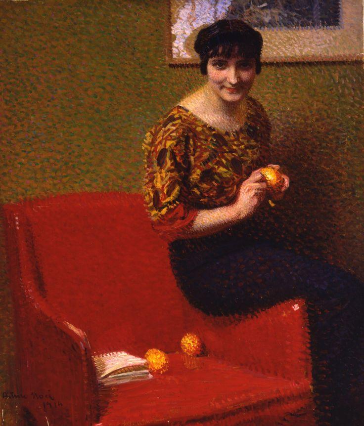 L'arancio /The Orange, Arturo Noci, 1914, oli on canvas, Rome, Galleria d'arte moderna