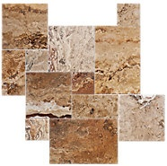 Sunny Brushed Unfilled Chisseled Large Versailles Pattern 7.96 SF    $87.54 BOX