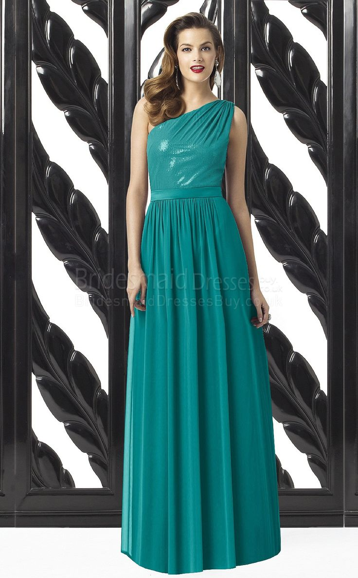 25 best turquoise bridesmaids ideas on pinterest turquoise a line sleeveless one shoulder turquoise satin chiffonsequined floor length bridesmaid dresses ombrellifo Choice Image