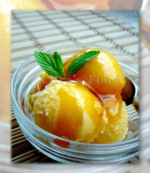 Orange Honey frozen yoghurt