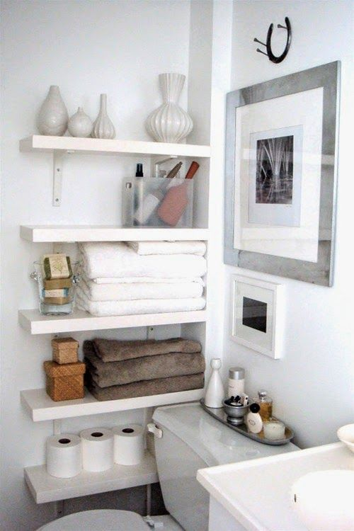 Best 25 Bathroom Shelves Ideas On Pinterest  Half Bathroom Decor Custom Bathroom Themes For Small Bathrooms Design Inspiration
