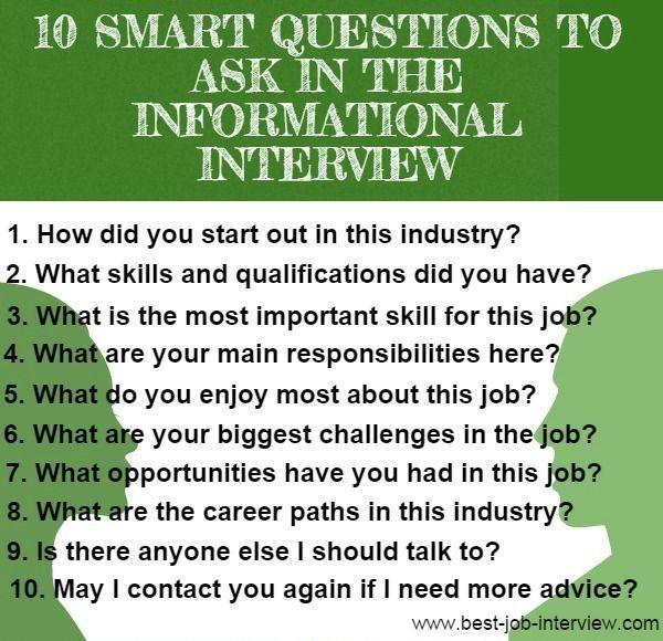 10 Information Interview Questions   Blog Items   Pinterest ...