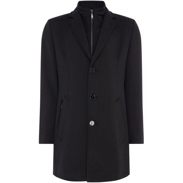 Bugatti Smart Stretch Coat With Insert (19.445 RUB) ❤ liked on Polyvore featuring men's fashion, men's clothing, men's outerwear, men's coats, men coats and jackets, mens windbreaker, mens windbreaker jacket, mens coats and bugatti mens coats