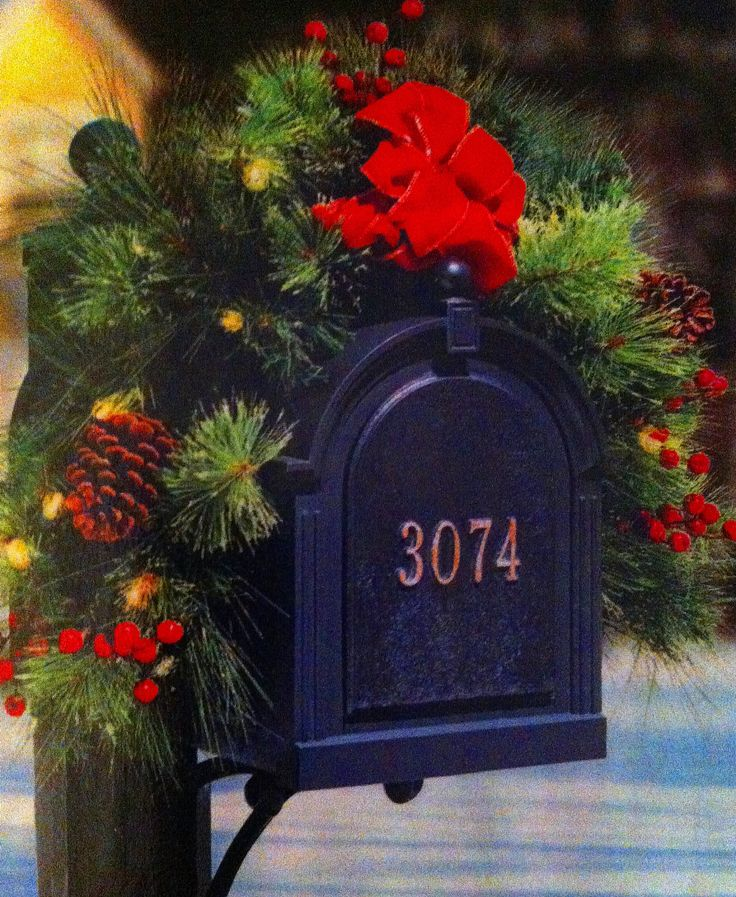 Christmas Decor Mailbox There 39 S No Place Like Home