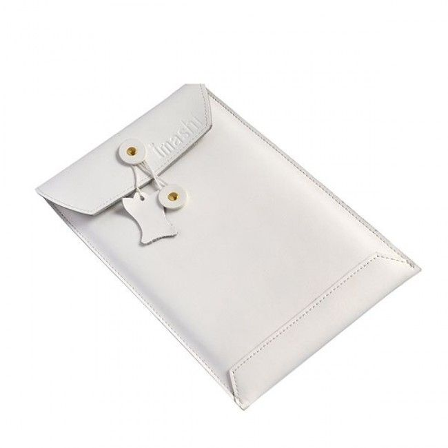Envelope (Valkoinen) iPad Mini Genuine Nahkatasku - Ilmainen Toimitus! - http://lux-case.fi/envelope-white-ipad-mini-genuine-leather-bag.html