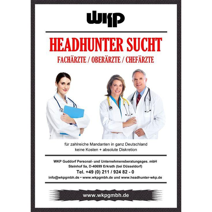 Headhunter sucht für mehrere Auftraggeber fortlaufend Chefaerzte, Oberaerzte, Fachaerzte und medizinisches Fachpersonal. Maximale Diskretion, vertrauliche Behandlung jeder Anfrage.