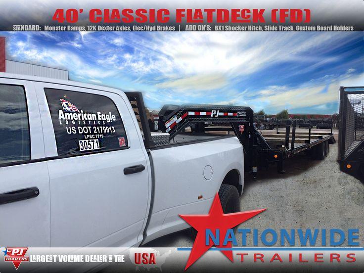 #PJTRAILERS 40' Classic Flat Deck w/ Duals.