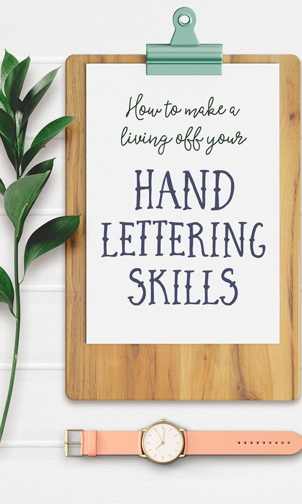 On the Creative Market Blog - How to Make a Living off Your Hand Lettering Skills