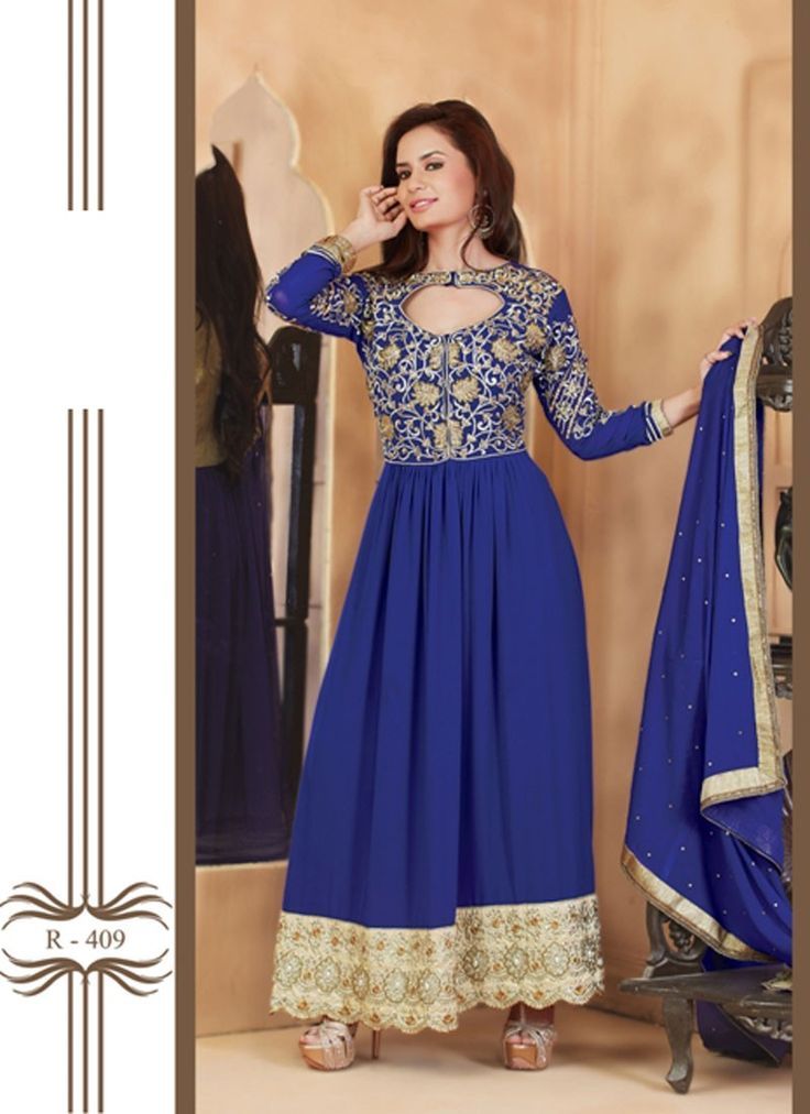 thayari.com - Fashionable And Fancy Designer Blue Anarkali Suits