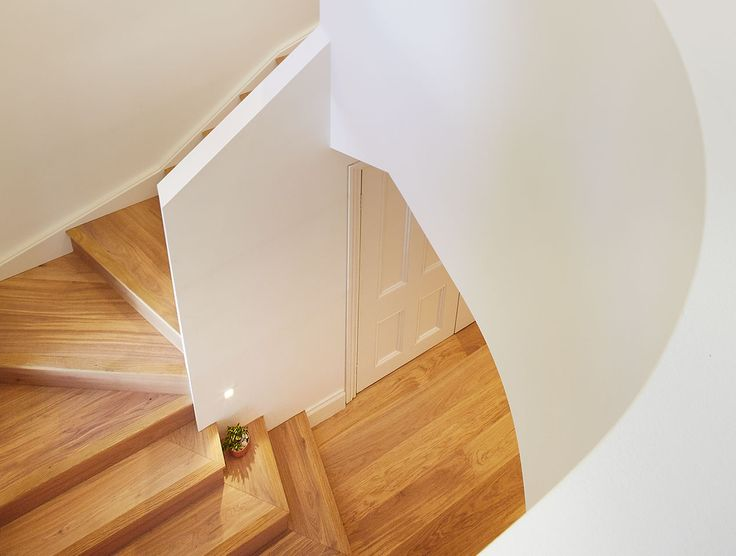 Even in a tight stairwell, Havwoods' products are adaptable to any niche project. Use our wood on custom cabinets, stairs, tables and countertops.