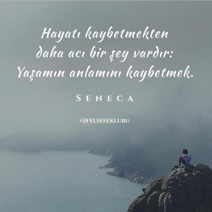Hayatı kaybetmekten daha acı bir şey vardır; Yaşamın anlamını kaybetmek. - Seneca