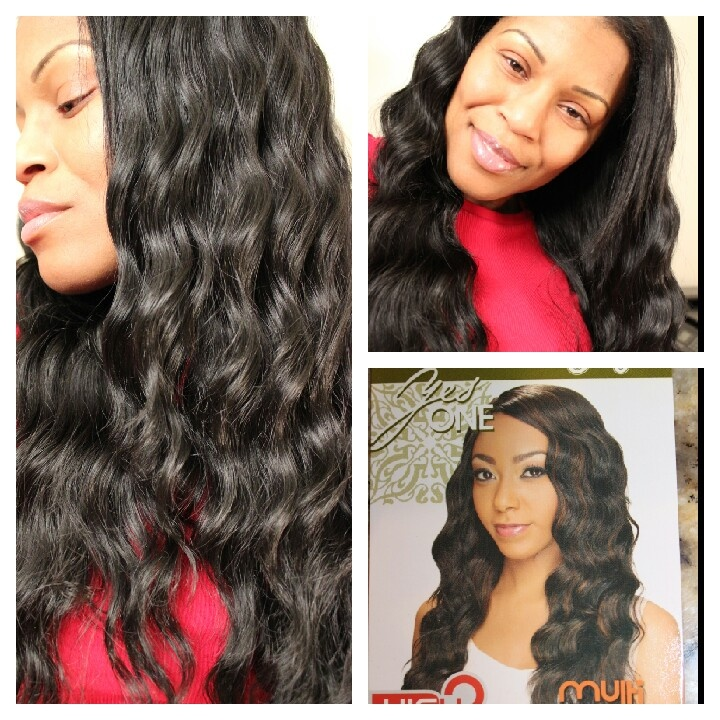 """Quick weave style for $19.99.  Zury """"Yes One"""" Egyptian Wave color 1B."""