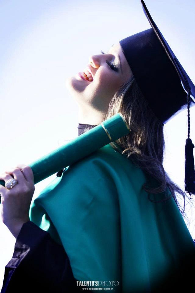 Inspiração de fotografia para colação de grau. A imagem não é minha, foi encontrada na internet.