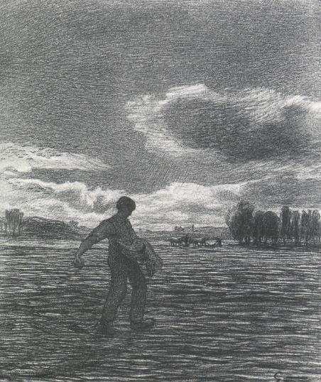 Giovanni Segantini, LA PROPAGANDA, 1897, Gesso nero e bianco su carta, cm 51,3x53,7, St.Moritz, Museo Segantini