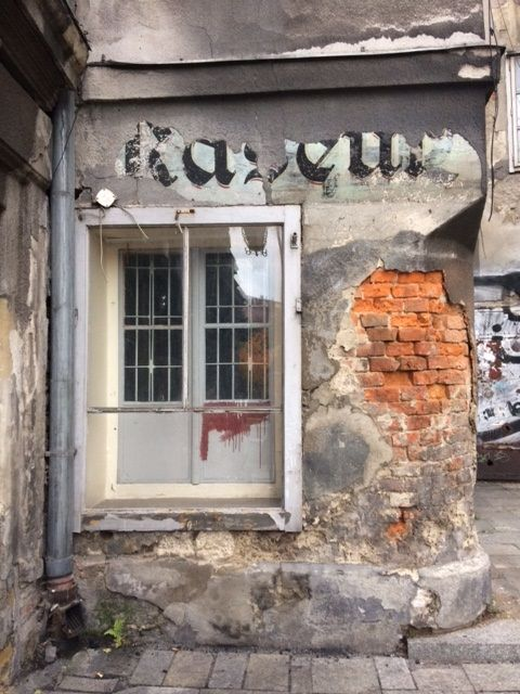A small testament of the multicultural past of Bielsko-Biala - a hidden German word - most likely means 'barber'. Poland