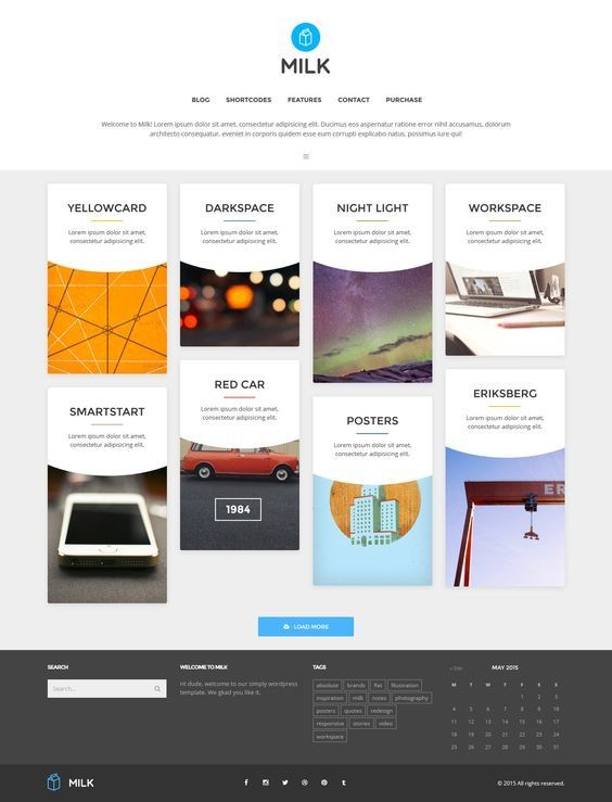 Milk - Simple Masonry WordPress Portfolio. Download: http://themeforest.net/item/milk-simple-masonry-wordpress-portfolio/9904475?ref=skarin