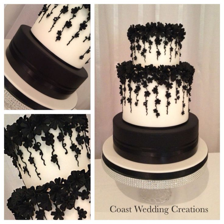 Gorgeous black and white wedding cake from a few weeks ago. Loved it ! Follow is on Facebook, Instagram, google+ or visit our site www.coastweddingcreations.com.au