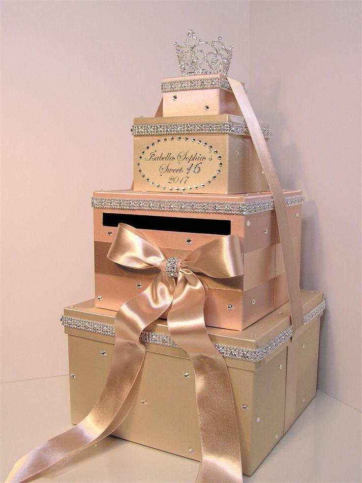 Quinceañera/Sweet 16/Birthday/Wedding Card Box Champagne