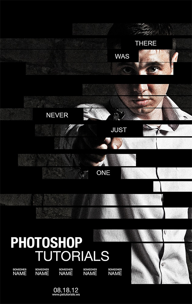 This shows how to make a poster inspired by the movie, The Bourne Legacy. I thought it was pretty cool tutorial.