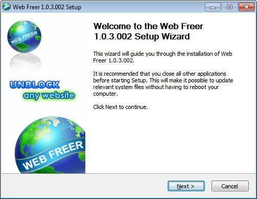 Web Freer Browser 1.0.3.504 Free Download Full Version