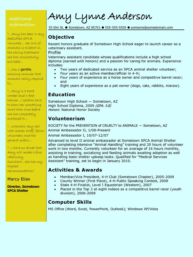 Veterinary Technician Resume