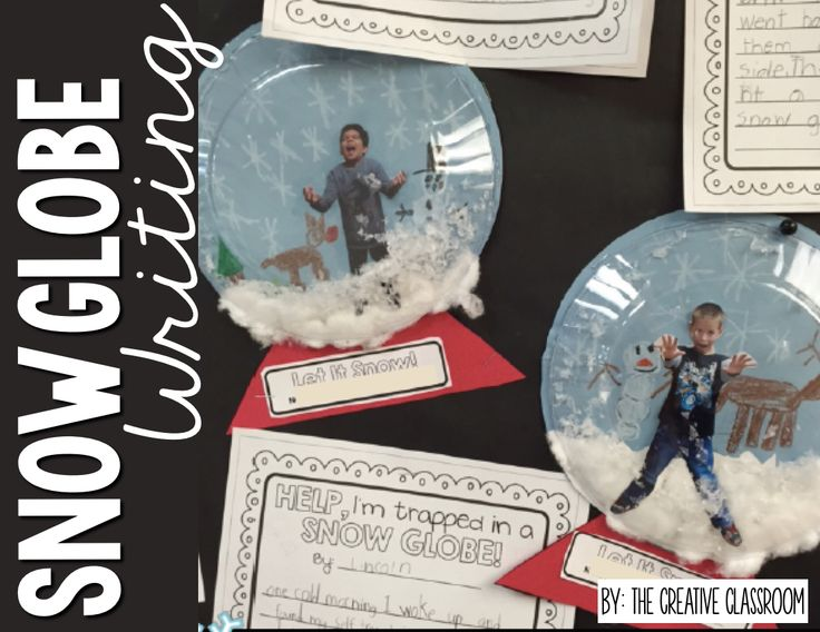 Winter writing that is creative and great for any grade level. Use this snow globe writing and creativity in your classroom today.