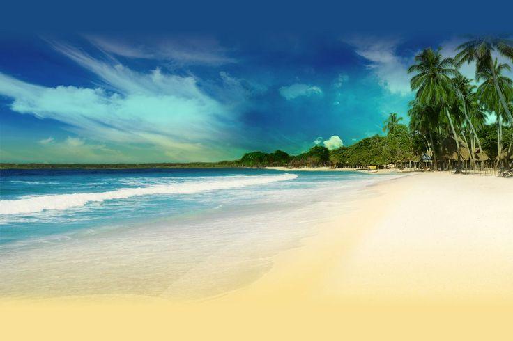 Baru, Playa Blanca . Cartagena,Bolivar, COLOMBIA .