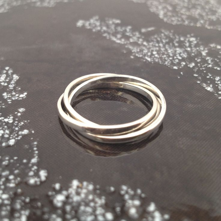 "Russian Rings - ""For then, For now, Forever"" You can't pull the three…"