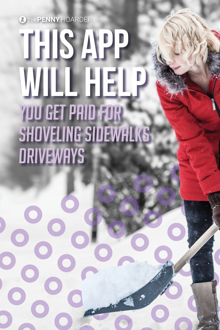 We found the *coolest* app -- it helps you get paid for shoveling snow around town.