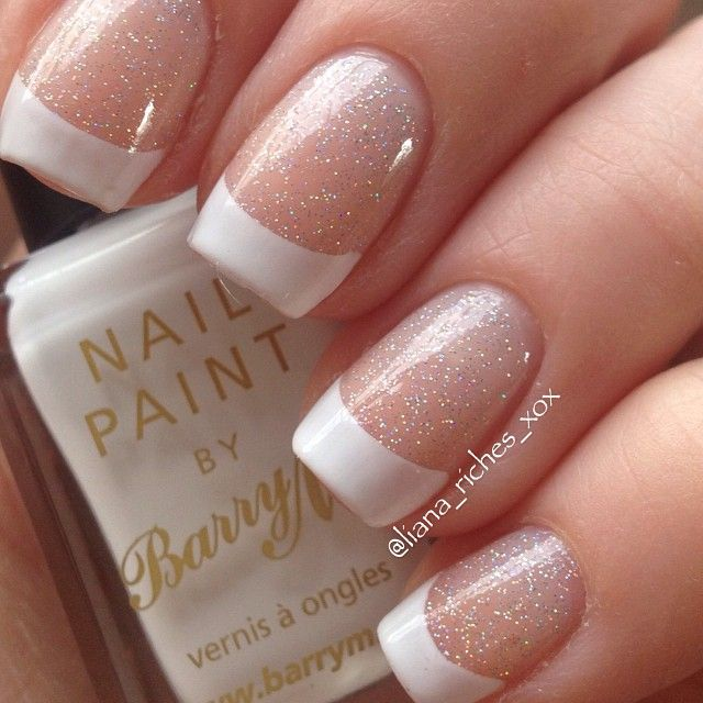 Glitter base white tip nails - Best 10+ French Tip Nails Ideas On Pinterest French Nails