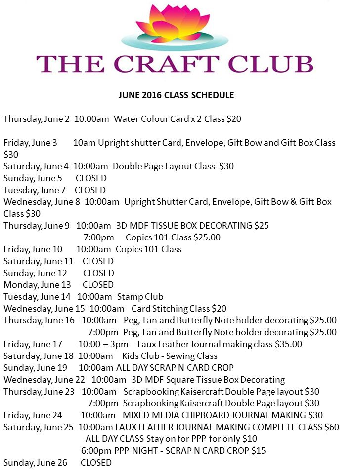 WHAT'S NEW + JUNE CLASSES
