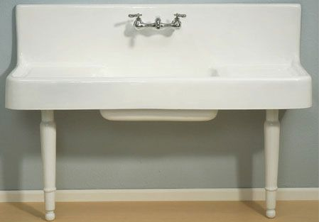 he original desire of my heart was to have an old wall mounted farmhouse sink with legs. Those happen to be anywhere from $1,500 to $2,000, and give us no enclosed storage space underneath it.