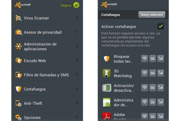 7 Antivirus para Android - Avast Free Mobile Security