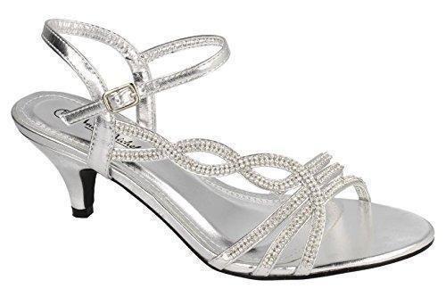Oferta: 30.59€. Comprar Ofertas de Absolutely Gorgeous Boutique H20322 - Sandalias de vestir para mujer Plateado plata barato. ¡Mira las ofertas!