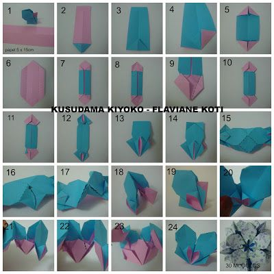 72 best origami kusudama images on pinterest paper crafts modular terapia do papel foto diagrama e curiosidades da kusudama kiyoko origami flowerspaper flowersdiy mightylinksfo