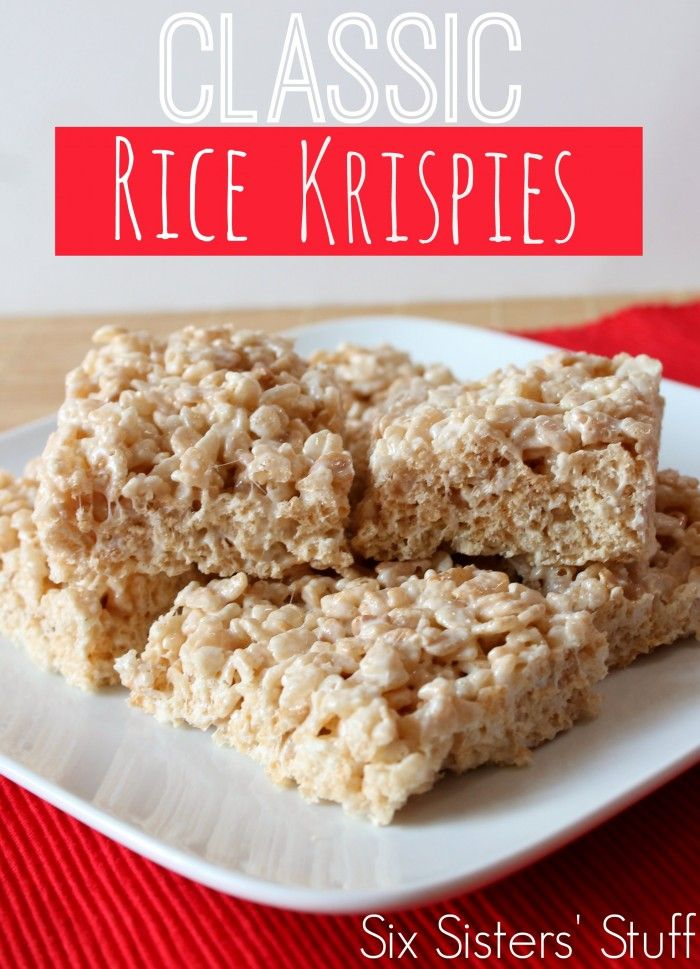How to Make Rice Krispies Treats - Six Sisters Stuff