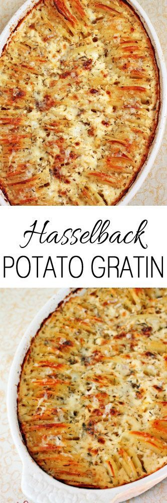 Hasselback Potato Gratin #potatoes #sides #recipe #cooking #dinner