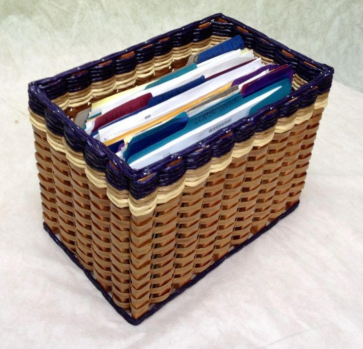 File Organizer Basket. This basket will easily organize all of your personal papers, receipts, insurance documents, and papers. And look beautiful doing so!