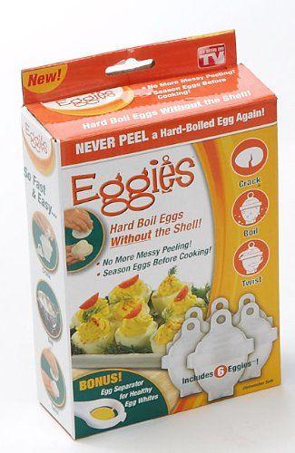 Eggies Never Peel a Hard-Boiled Egg Again! 6 EACH.  #Allstar_Marketing #Kitchen