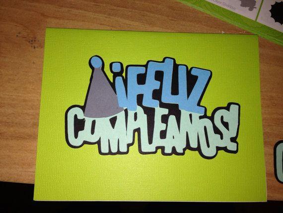 Spanish Happy Birthday Card - Feliz Compleanos on Etsy, $2.00 CAD