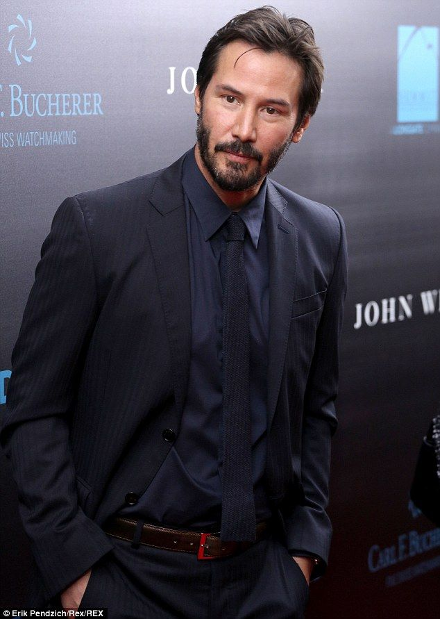 Keanu Reeves turned 50 this year, but could have passed for 40 at the John Wick film premi… // that man needs a really cute toe on him.