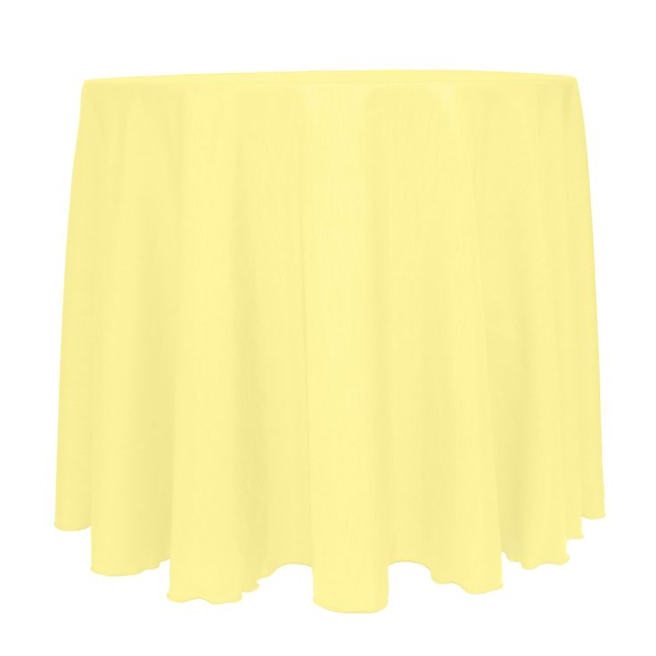 Ultimate Textile (3 Pack) Reversible Shantung Satin - Majestic 90-Inch Round Tablecloth - for Weddings, Home Parties and Special Event use, Cornsilk Light Yellow