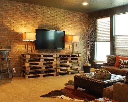 Cozy Industrial Chic Media Room, Eclectic Media Room, Boise