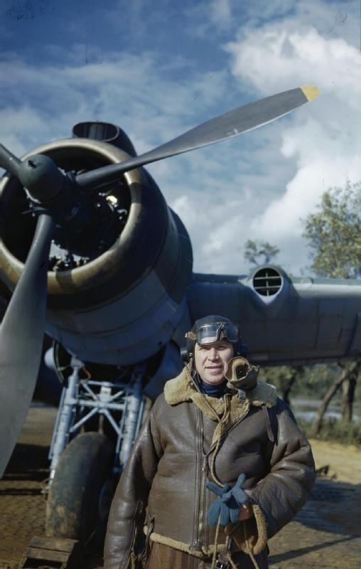 File:Air Vice Marshal Sir Hugh Lloyd, Air Officer Commanding Mediterranean Allied Coastal Air Forces, in Britain, 18 March 1944 TR1594.jpg