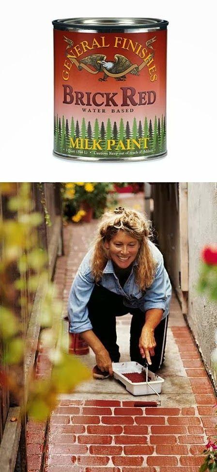 101 Gardening: Painting concrete sidewalk