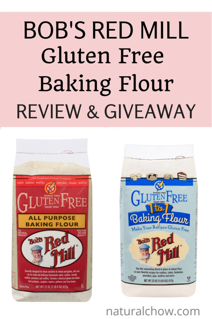 Natural Chow | Bob's Red Mill Gluten Free Baking Flour Review and Giveaway | http://naturalchow.com: Gluten Free Baking, Baking Flour, Mills Gluten, Flour Giveaways, Baking Mixed, Giveaways Glutenfree, Bobs Mills, Gluten Fre Living, Bobs Red Mills