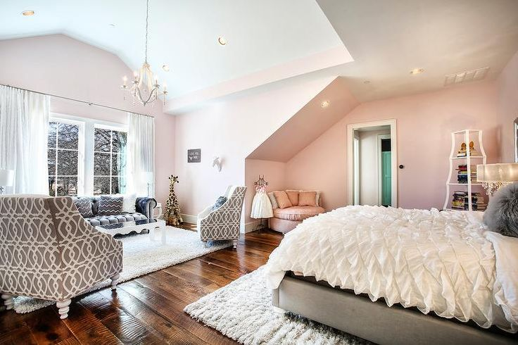 Best Glamorous Contemporary Girl S Bedroom Donning Cotton Candy 640 x 480